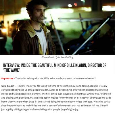 Interview: Inside the Beautiful Mind of Gille Klabin, Director of 'The Wave'
