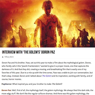 Interview with 'The Golem's' Doron Paz