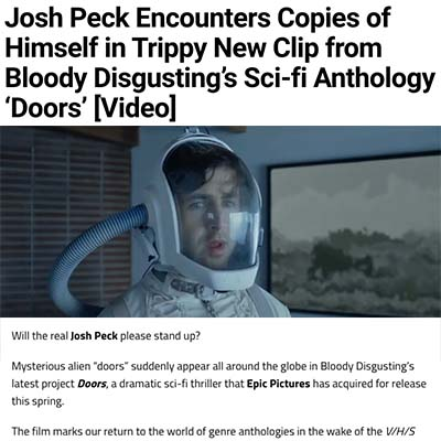 Josh Peck Encounters Copies of Himself in Trippy New Clip from Bloody Disgusting's Sci-fi Anthology 'Doors' [Video]