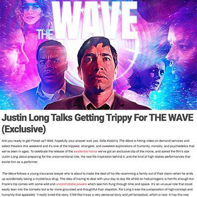 Justin Long Talks Getting Trippy For THE WAVE (Exclusive)