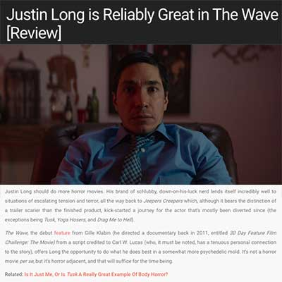 Justin Long is Reliably Great in The Wave [Review]