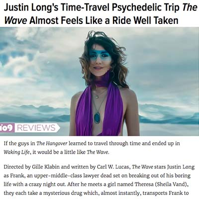 Justin Long's Time-Travel Psychedelic Trip The Wave Almost Feels Like a Ride Well Taken