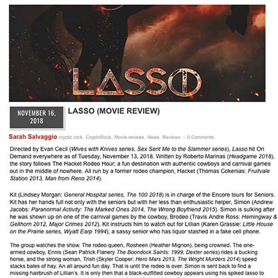 LASSO (MOVIE REVIEW)
