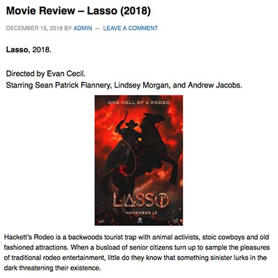 Lasso Film Review (2018)