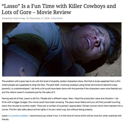 """Lasso"" Is a Fun Time with Killer Cowboys and Lots of Gore – Movie Review"