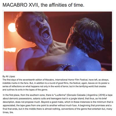 MACABRO XVII, the affinities of time.