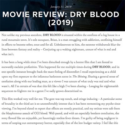 MOVIE REVIEW: DRY BLOOD (2019)