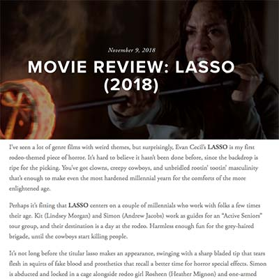 MOVIE REVIEW: LASSO (2018)