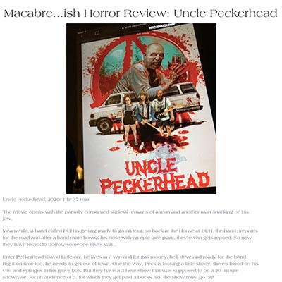Macabre...ish Horror Review: Uncle Peckerhead