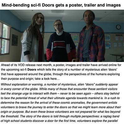 Mind-bending sci-fi Doors gets a poster, trailer and images