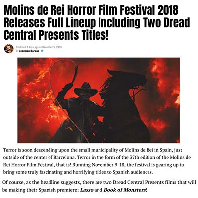 Molins de Rei Horror Film Festival 2018 Releases Full Lineup Including Two Dread Central Presents Titles!