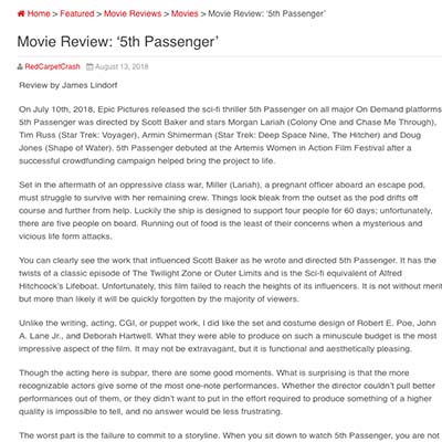 Movie Review: 5th Passenger