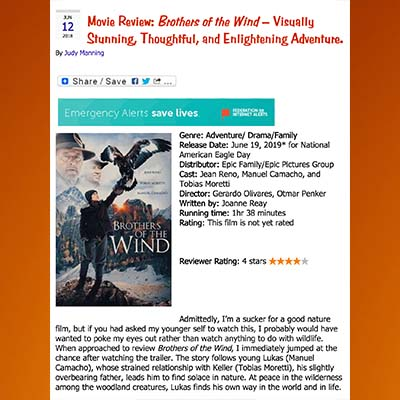 Movie Review: Brothers of the Wins-Visually Stunning, Thoughtful, and Enlightening Adventure.