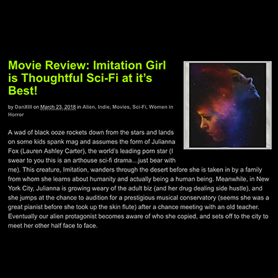 Movie Review: Imitation Girl is Thoughtful Sci-Fi at it's Best!