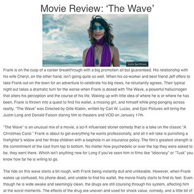 Movie Review: 'The Wave'
