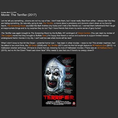 Movie: The Terrifier (2017)