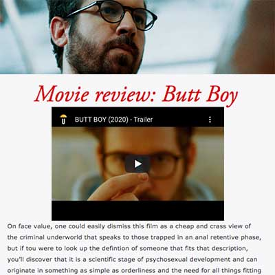 Movie review: Butt Boy - 2020