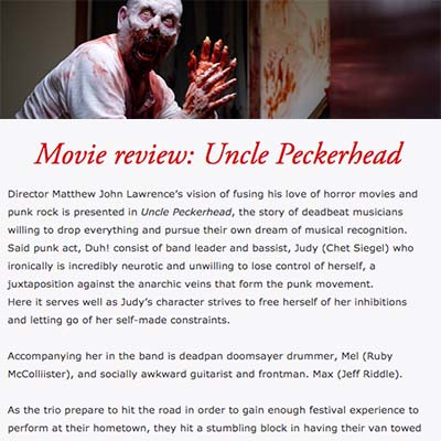 Movie review: Uncle Peckerhead