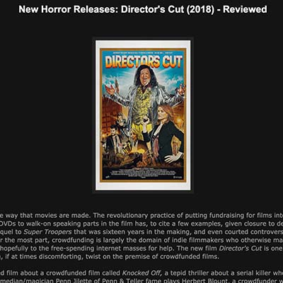 New Horror Releases: Director's Cut (2018) - Reviewed