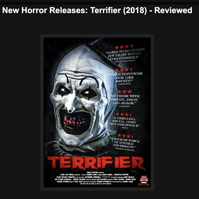 New Horror Releases: Terrifier (2018) - Reviewed