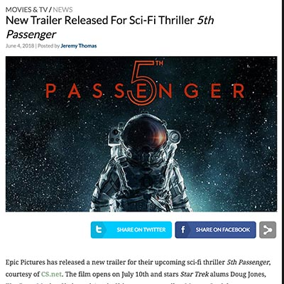 New Trailer Released For Sci-Fi Thriller 5th Passenger