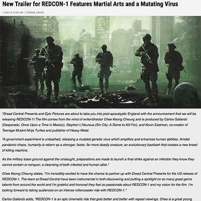 New Trailer for REDCON-1 Features Martial Arts and a Mutating Virus