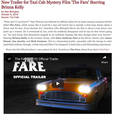New Trailer for Taxi Cab Mystery Film 'The Fare' Starring Brinna Kelly