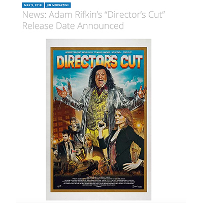"News: Adam Rifkin's ""Director's Cut"" Release Date Announced"