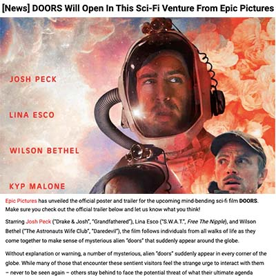 [News] DOORS Will Open In This Sci-Fi Venture From Epic Pictures