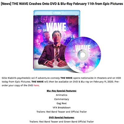 [News] THE WAVE Crashes Onto DVD & Blu-Ray February 11th from Epic Pictures