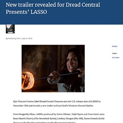 New trailer revealed for Dread Central Presents' LASSO