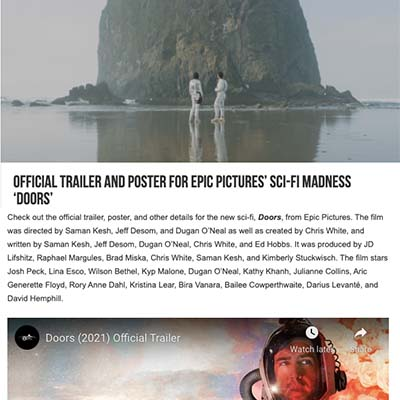 Official Trailer and Poster for Epic Pictures' Sci-Fi Madness 'Doors'