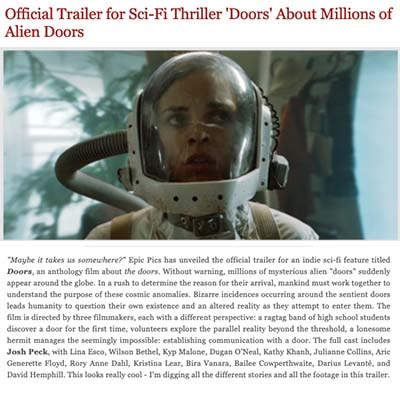 Official Trailer for Sci-Fi Thriller 'Doors' About Millions of Alien Doors