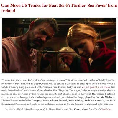 One More US Trailer for Boat Sci-Fi Thriller 'Sea Fever' from Ireland