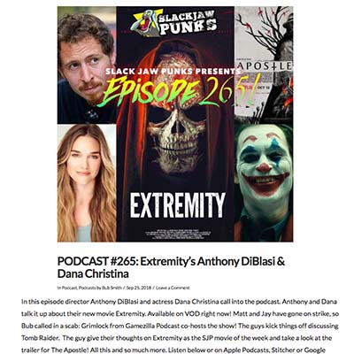 PODCAST #265: Extremity's Anthony DiBlasi & Dana Christina