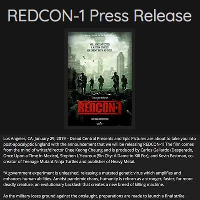 REDCON-1 Press Release