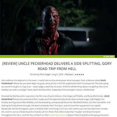 [REVIEW] UNCLE PECKERHEAD DELIVERS A SIDE-SPLITTING, GORY ROAD TRIP FROM HELL