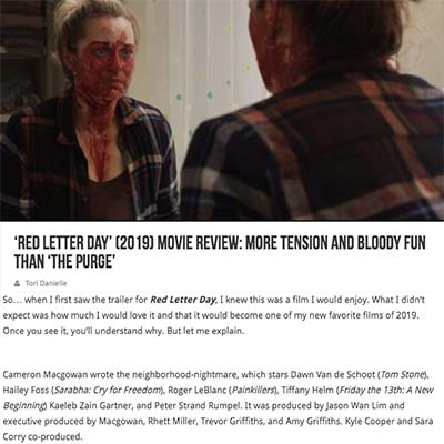 'Red Letter Day' (2019) Movie Review: More Tension and Bloody Fun Than 'The Purge'