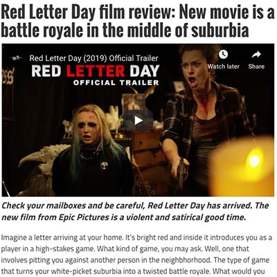 Red Letter Day film review: New movie is a battle royale in the middle of suburbia