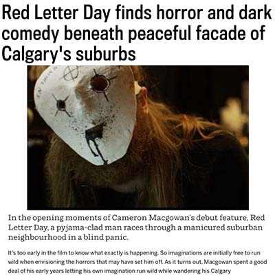 Red Letter Day finds horror and dark comedy beneath peaceful facade of Calgary's suburbs