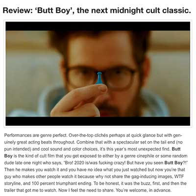 Review: 'Butt Boy', the next midnight cult classic.