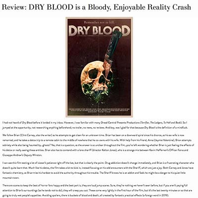 Review: DRY BLOOD is a Bloody, Enjoyable Reality Crash