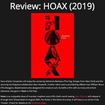 Review: HOAX (2019)