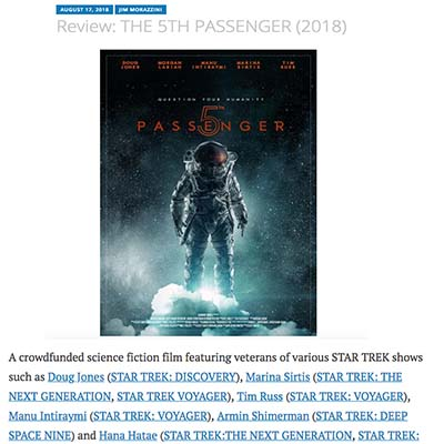 Review: THE 5TH PASSENGER (2018)