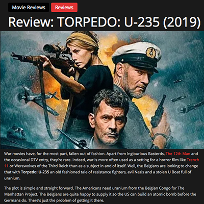 Review: TORPEDO: U-235 (2019)