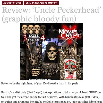 Review: 'Uncle Peckerhead' (graphic bloody fun)