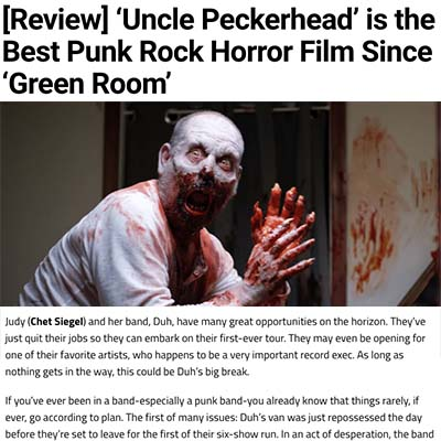 [Review] 'Uncle Peckerhead' is the Best Punk Rock Horror Film Since 'Green Room'