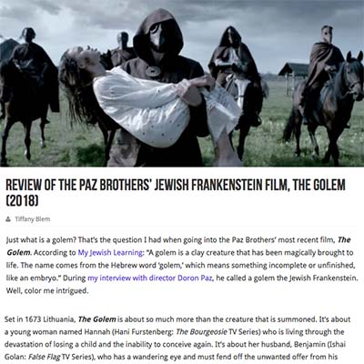 Review of the Paz Brothers' Jewish Frankenstein Film, The Golem (2018)