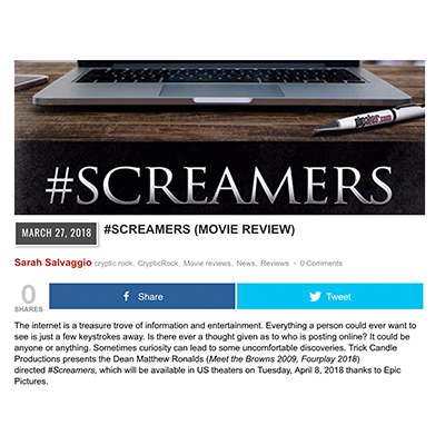#SCREAMERS (MOVIE REVIEW)