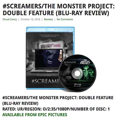 #SCREAMERS/THE MONSTER PROJECT: DOUBLE FEATURE (BLU-RAY REVIEW)